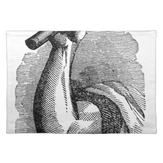 Labor Hand Holding Hammer Placemat
