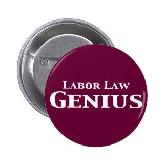 Labor Law Genius Gifts 2 Inch Round Button