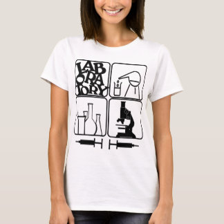 LABORATORY - BEAKERS SYRINGES MICROSCOPE T-Shirt