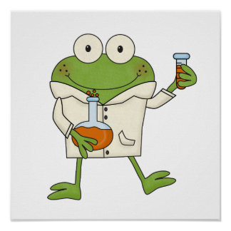 Laboratory Frog Poster