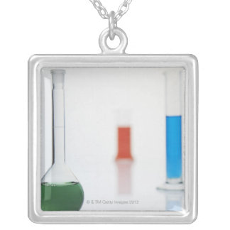 Laboratory Shots Silver Plated Necklace