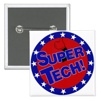 LABORATORY SUPER TECH! 2 INCH SQUARE BUTTON