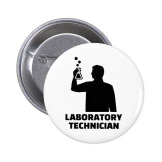 Laboratory technician 2 inch round button