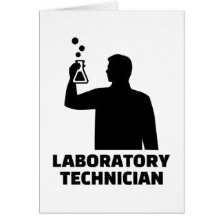 Laboratory technician card