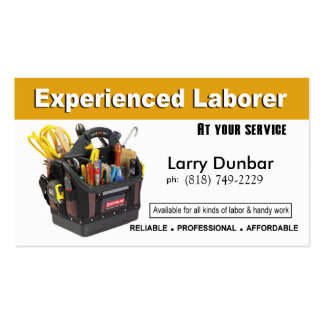 Laborer Handyman Home Repair Construction Business Card Templates