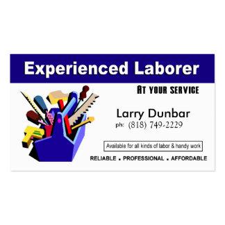 Laborer Handyman Home Repair Construction Business Card Templates