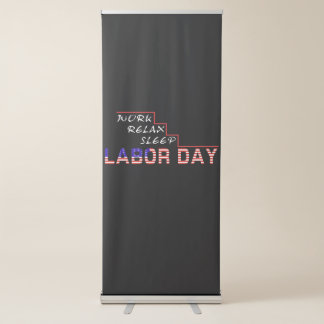 Labour Day Retractable Banner