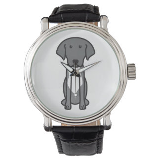 Labradinger Dog Cartoon Watch