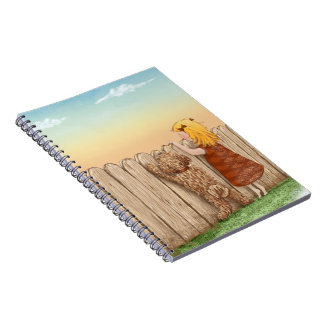 Labradoodle and Girl Notebooks