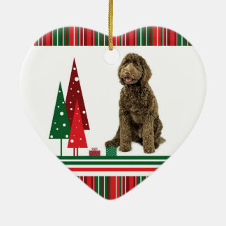 Labradoodle Christmas Ornament