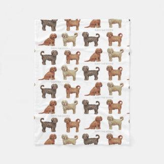 LABRADOODLE Custom Fleece Blanket