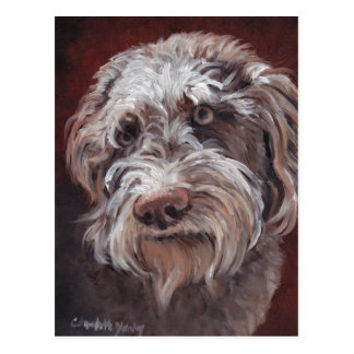 Labradoodle Dog Art Postcard
