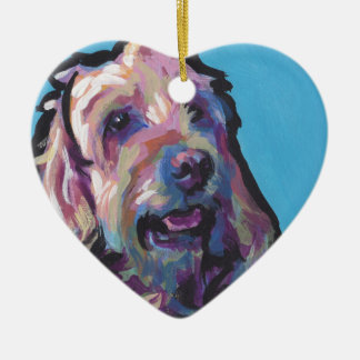 Labradoodle Dog fun bright pop art Ceramic Ornament