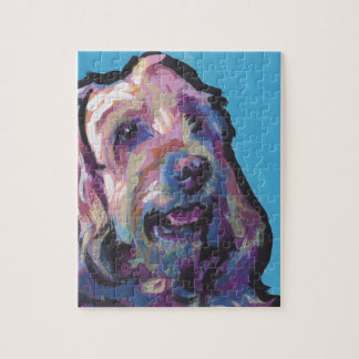 Labradoodle Dog fun bright pop art Jigsaw Puzzle