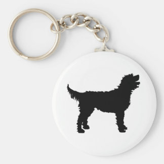 Labradoodle Dog (in black) Keychain