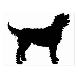 Labradoodle Dog (in black) Postcard