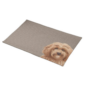 Labradoodle Dog Placemat Beige