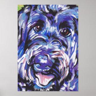 Labradoodle Dog Pop Art Poster