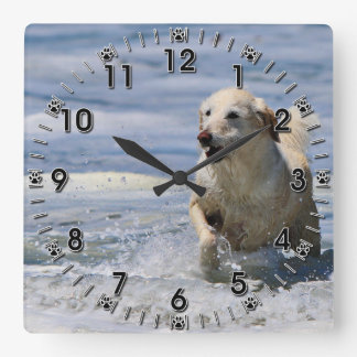 Labradoodle - Izzy Square Wall Clock
