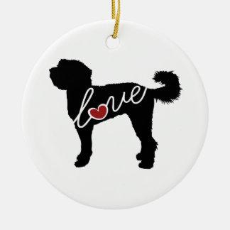 Labradoodle Love Ceramic Ornament