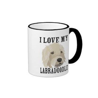 Labradoodle love! ringer mug