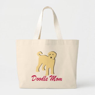 Labradoodle Mom Large Tote Bag