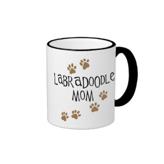Labradoodle Mom Ringer Coffee Mug