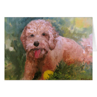 Labradoodle or Goldendoodle Card for any ocassion