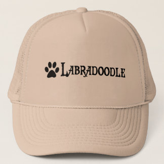 Labradoodle (pirate style w/ pawprint) trucker hat