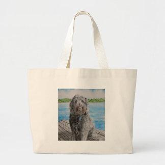 Labradoodle Stewart Large Tote Bag