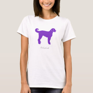 Labradoodle T-shirt (purple silhouette)
