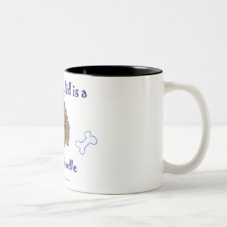 labradoodle Two-Tone coffee mug