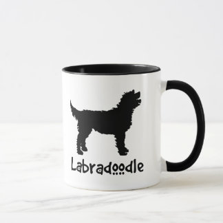 Labradoodle w/ Cool Text (in black) Mug