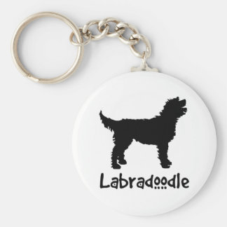 Labradoodle w/ Cool Text Keychain