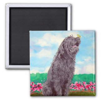 Labradoodle with Butterfly Magnet