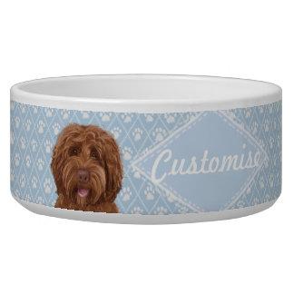 ©LabraDoodleFriends Dog Blue Labradoodle Bowl Pet Water Bowls