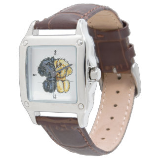 Labradoodles Black Yellow Lined Up Wristwatch
