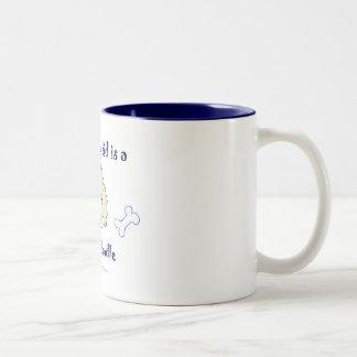 LabradoodleYellow Two-Tone Coffee Mug