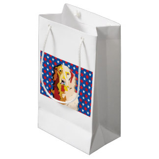labrador3 small gift bag