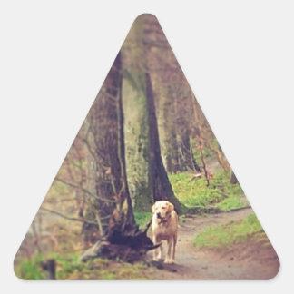 Labrador and his Regal Pose Triangle Sticker