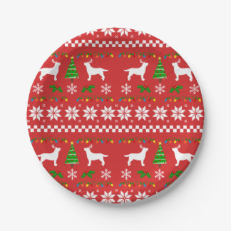 Labrador Antlers Ugly Christmas Paper Plate 2