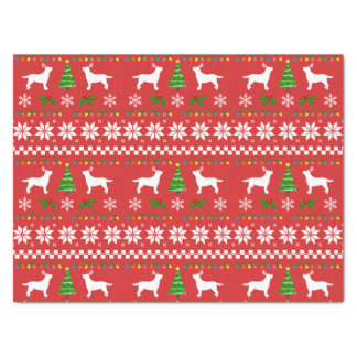 Labrador Antlers Ugly Christmas Pattern Tissue Paper