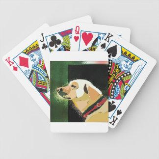 labrador bicycle playing cards