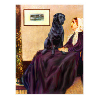 Labrador (Black) - Whistler's Mother Postcard