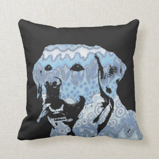 Labrador Blues Throw Pillow