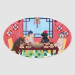 Labrador Chinese Restaurant Oval Sticker