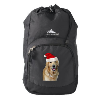 Labrador christmas-santa claus dog-santa dog-pet backpack