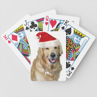 Labrador christmas-santa claus dog-santa dog-pet bicycle playing cards