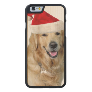 Labrador christmas-santa claus dog-santa dog-pet carved maple iPhone 6 case