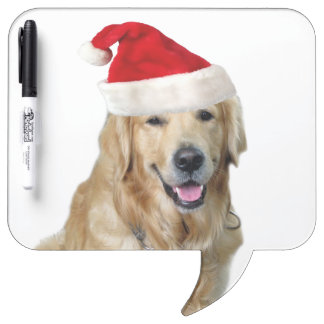 Labrador christmas-santa claus dog-santa dog-pet dry erase board